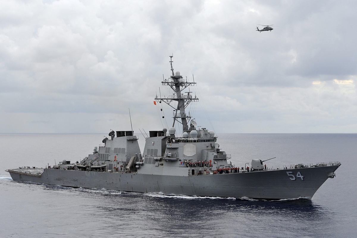 US naval fleet in South China Sea