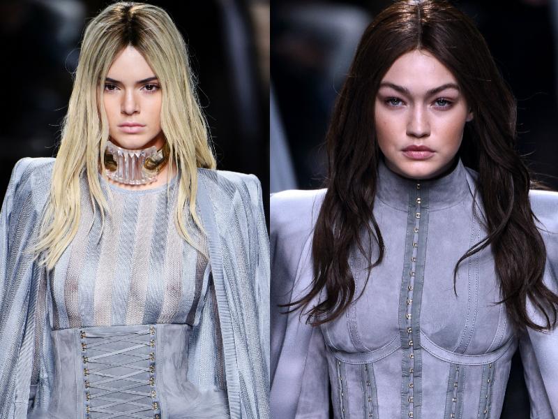 Kendall Jenner And Gigi Hadid Switch Hair Colour For Balmain Paris