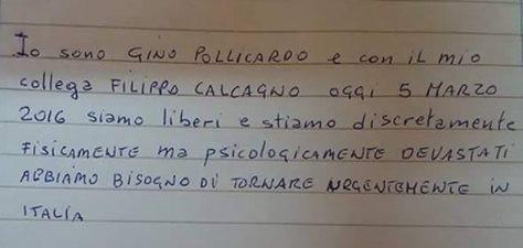 Message from Gino Pollicardo