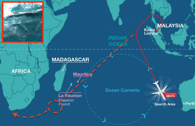 MH370 suggested route drifting