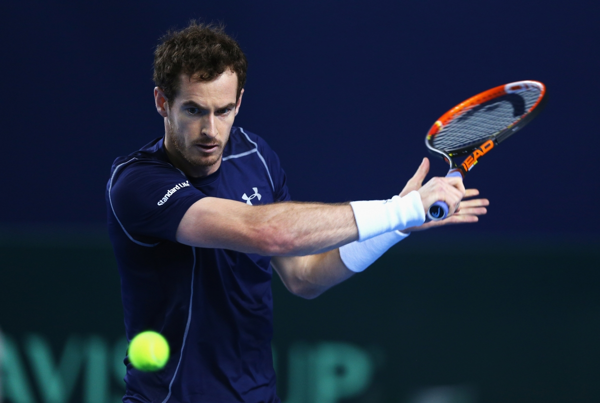Andy Murray in action for Great Britain