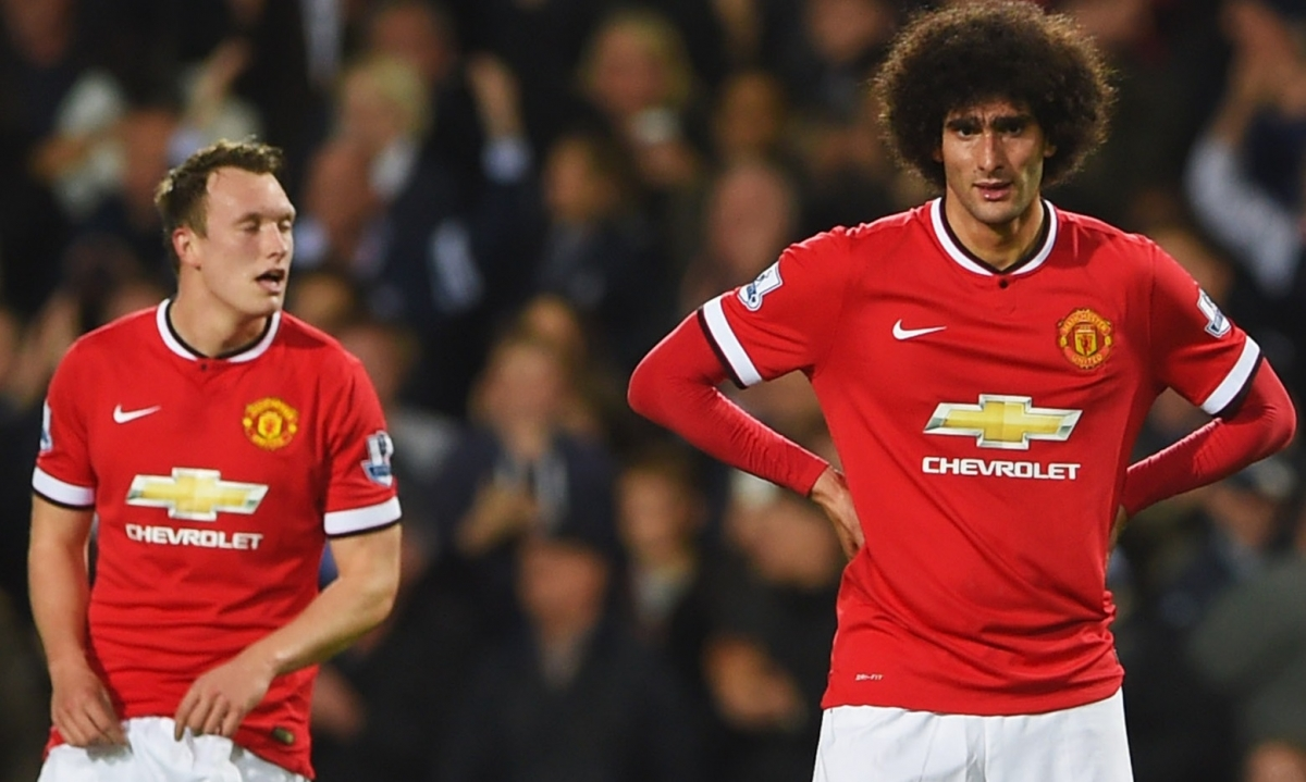 Phil Jones and Marouane Fellaini