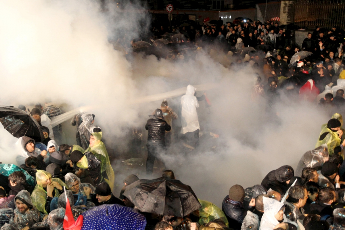 Tear gas fired at Zaman protests