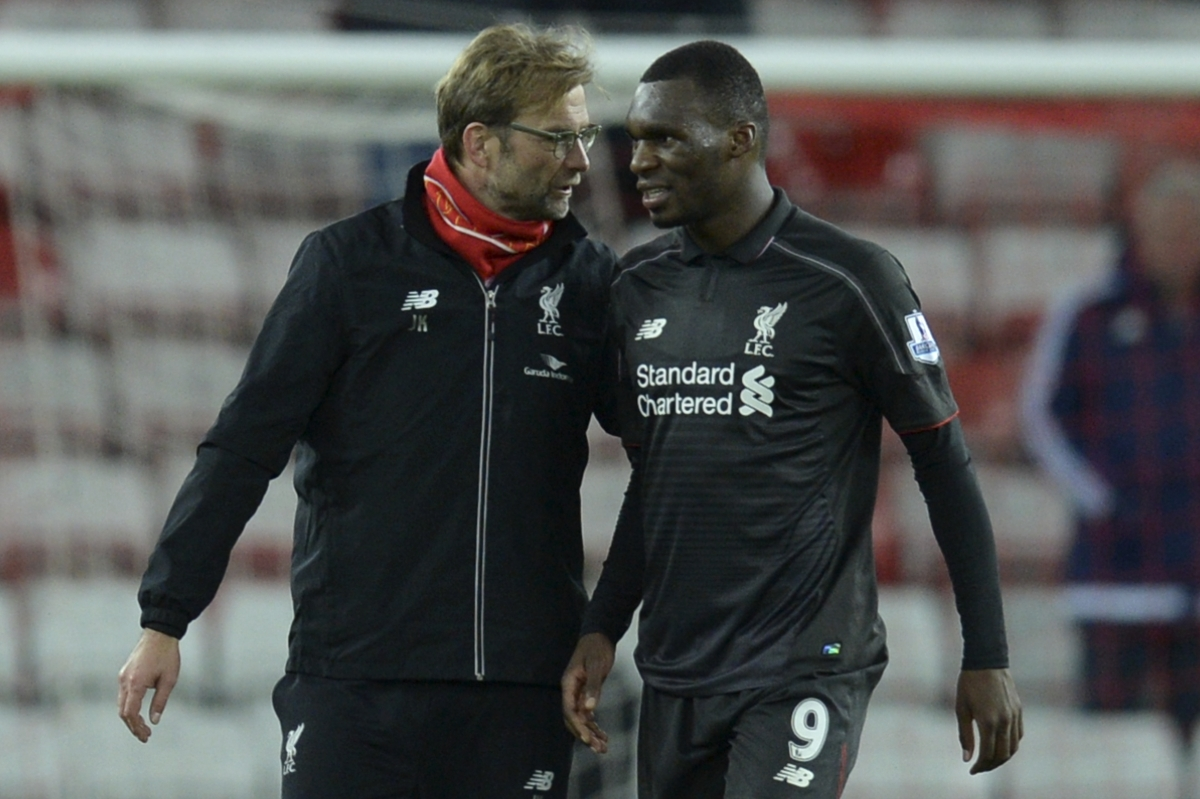 Jurgen Klopp and Christian Benteke