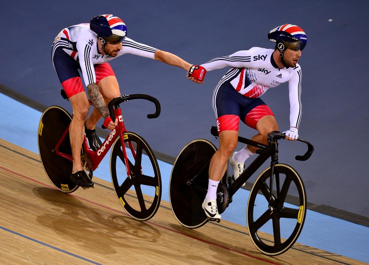 Sir Bradley Wiggins and Mark Cavendish