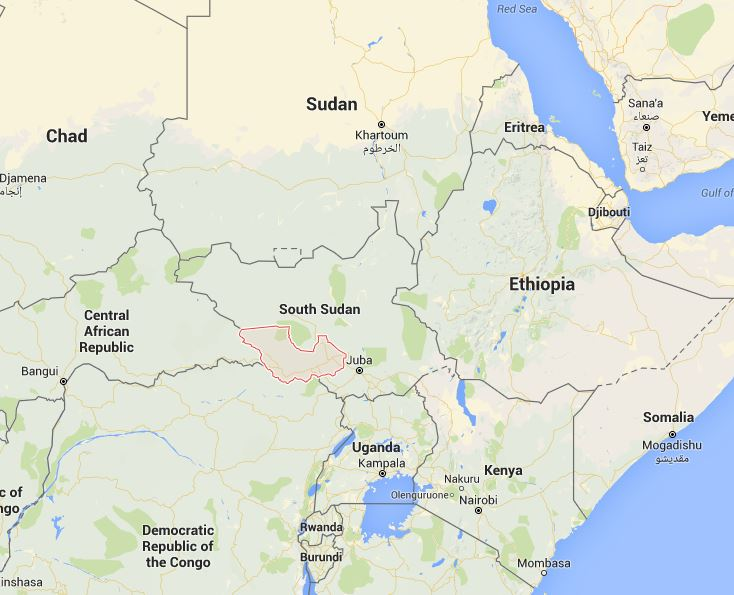 South Sudan's Western Equatoria regionGoogle Maps