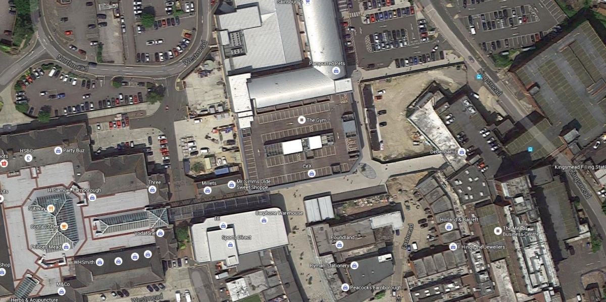 google maps farnborough car park