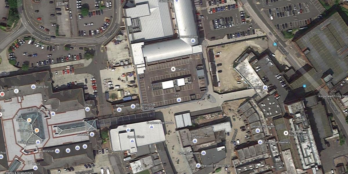 google maps farnborough car park