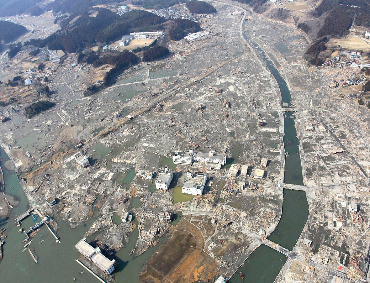 Japan earthquake tsunami then and now