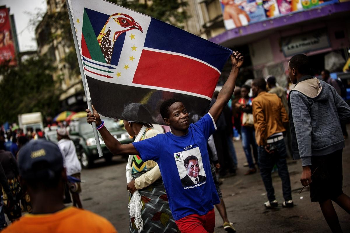 Renamo flag in Maputo, Mozambique