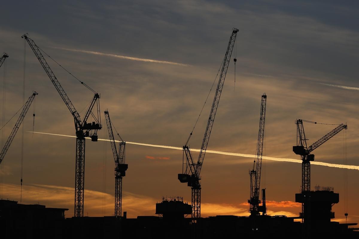 London property cranes constructions