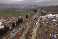 Aerial views of Greece camp