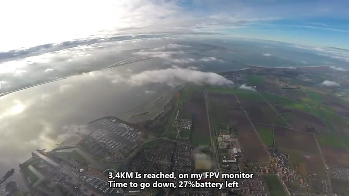 DJI Phantom 2 drone flown up to10,000ft