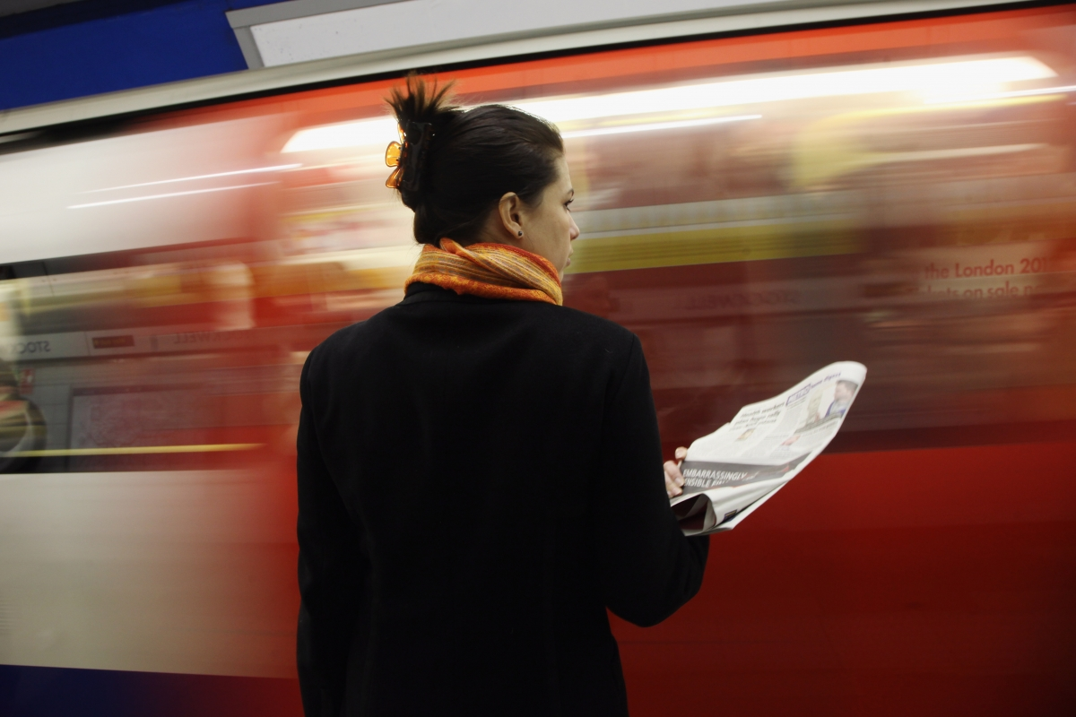 Woman by Tube
