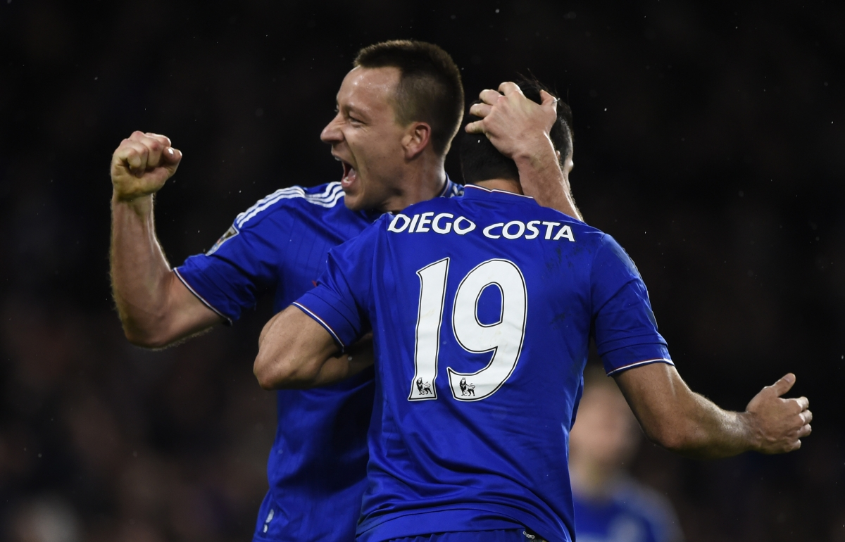 John Terry and Diego Costa
