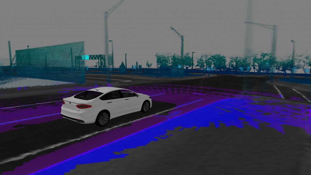 Ford autonomous car 3D map