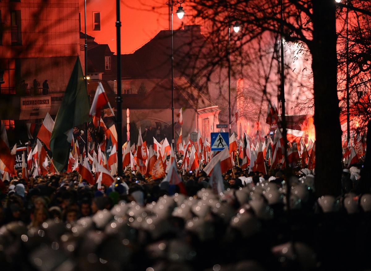 Polish far right demo