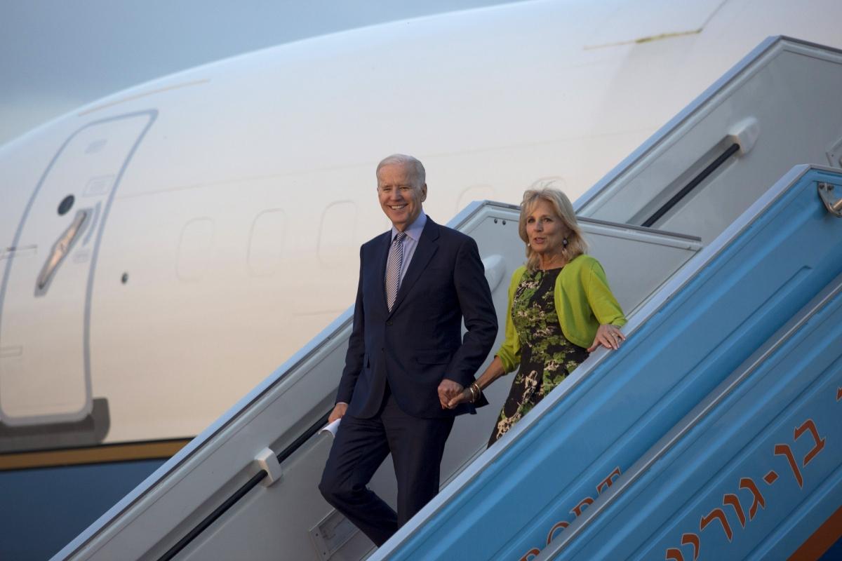 US vice president Joe Biden in Israel