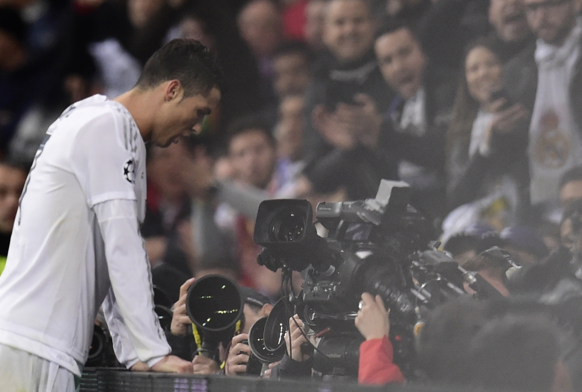 Ronaldo in action in Madrid