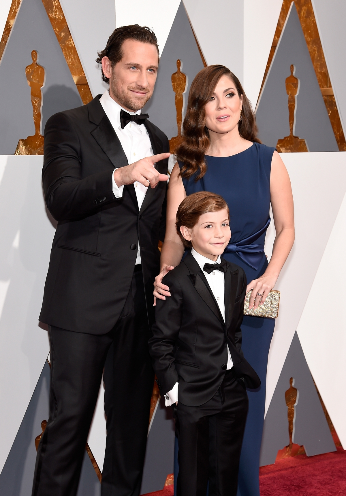 Jacob Tremblay with parents Jason and Christina