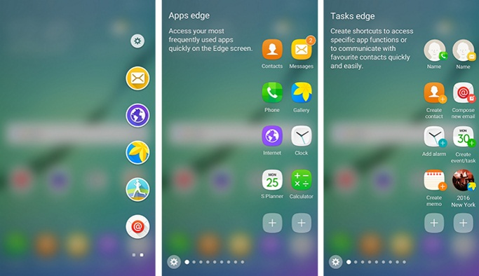Samsung Edge Screen features