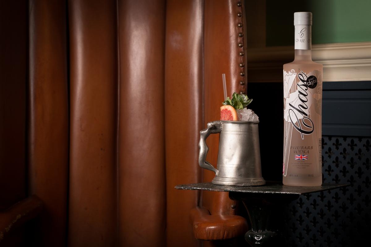 Rhubarb Radler cocktail