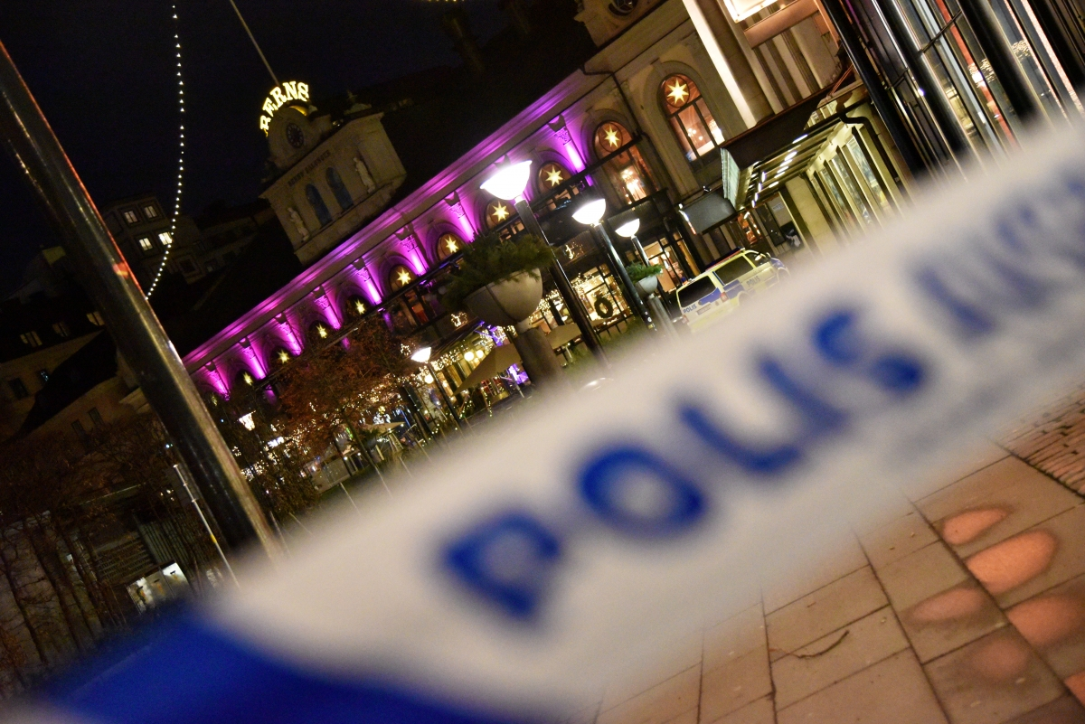 A Swedish police cordon