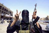 An Iraq militant shows the \'V forvictor