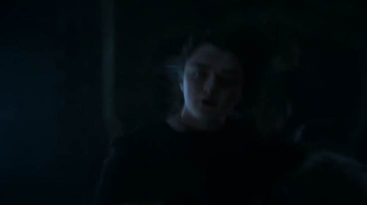 arya gets whacked in the face