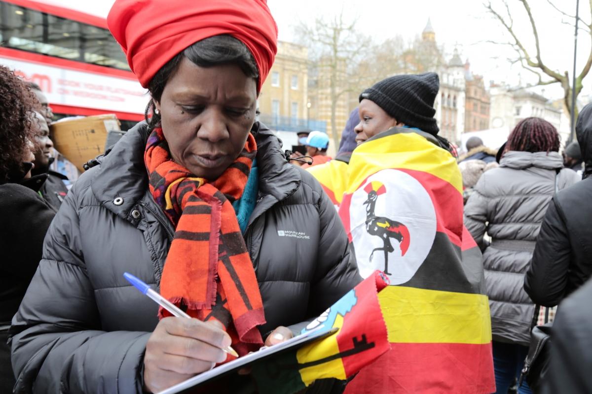 Uganda opposition demonstration London