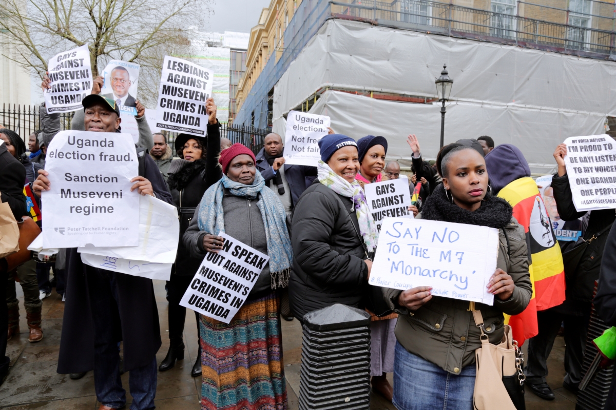 Uganda opposition demonstration in London