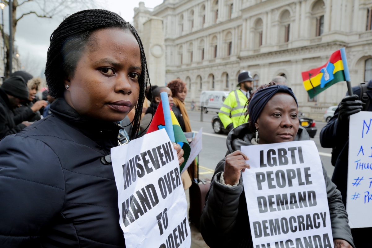 Uganda opposition demonstration London