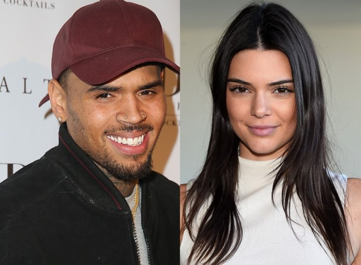 chris brown dating a model