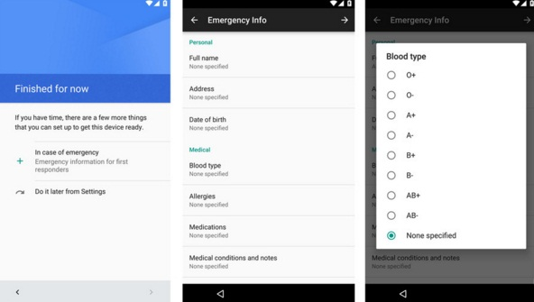 Android N emergency feature