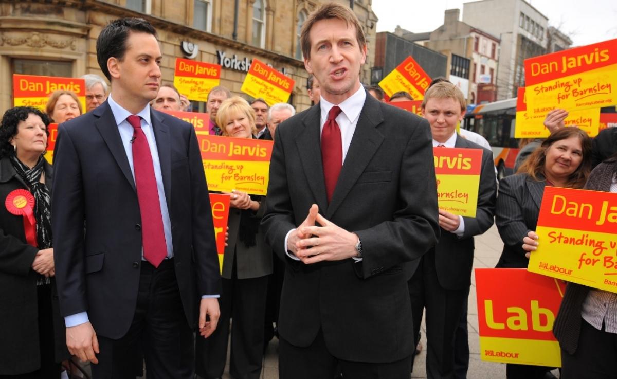 Dan Jarvis with Ed Miliband
