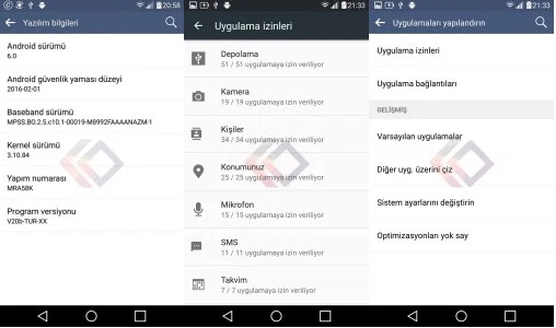 The LG V10 Marshmallow update in Turkey