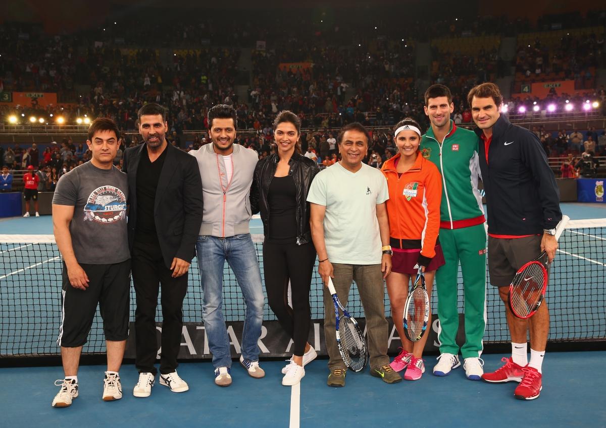 Deepika Padukone and Novak Djokovic