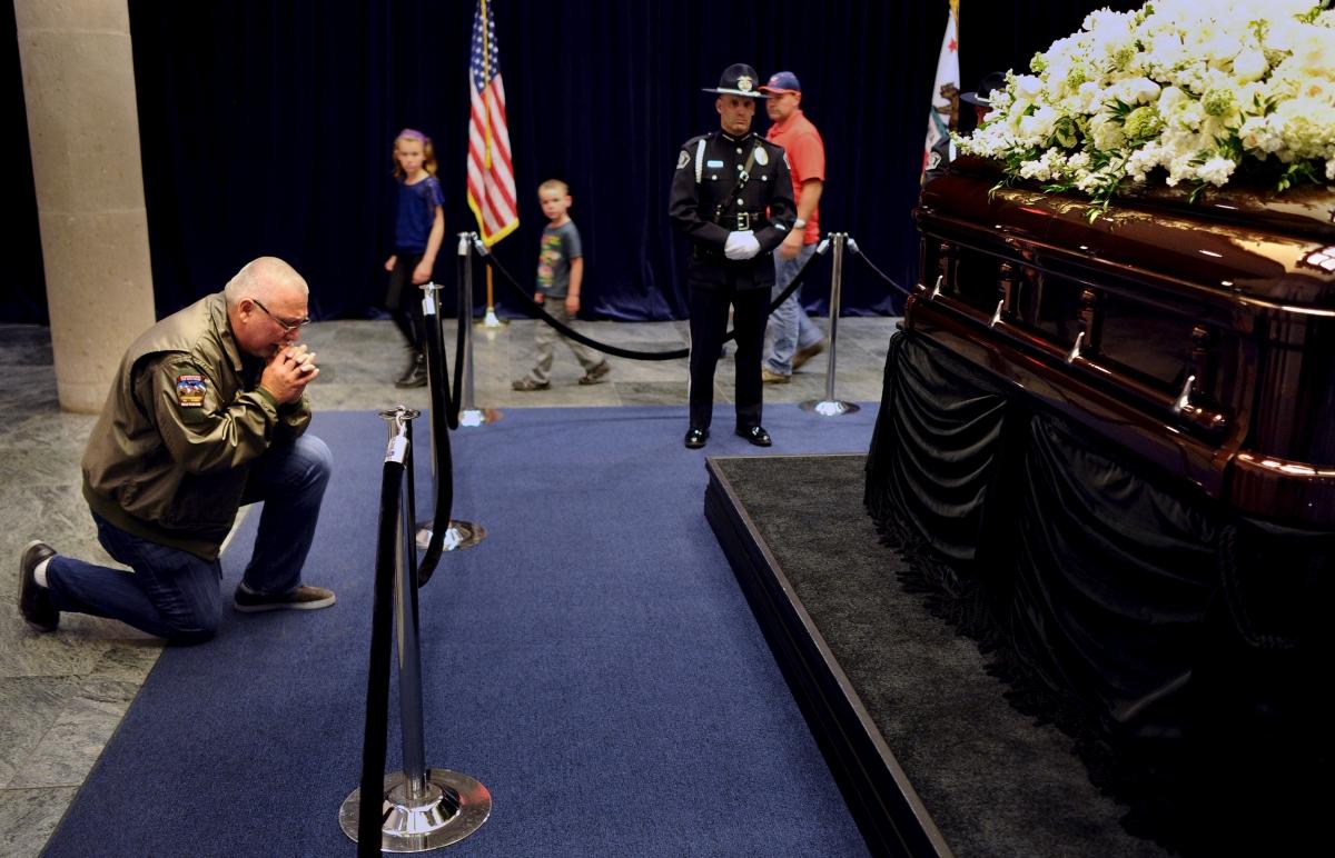 Nancy Reagan's casket