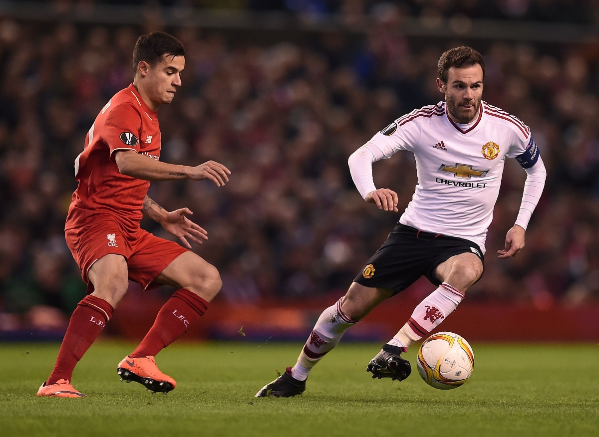 Juan Mata on the ball for United