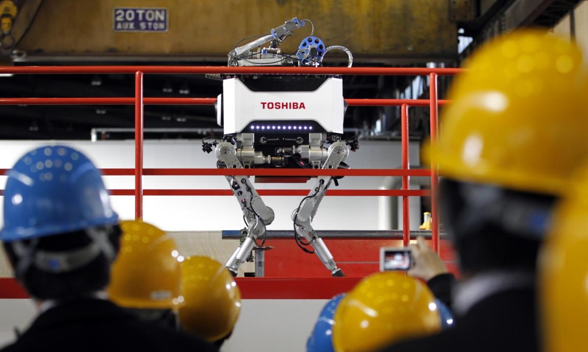 fukushima robots radiation