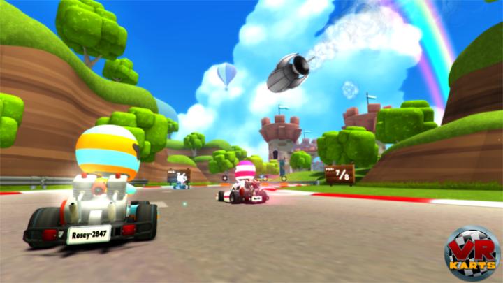 VR Karts virtual reality game