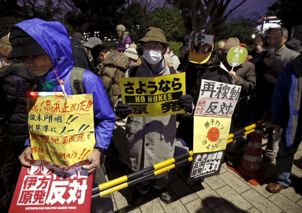 Anti-nuclear protesters