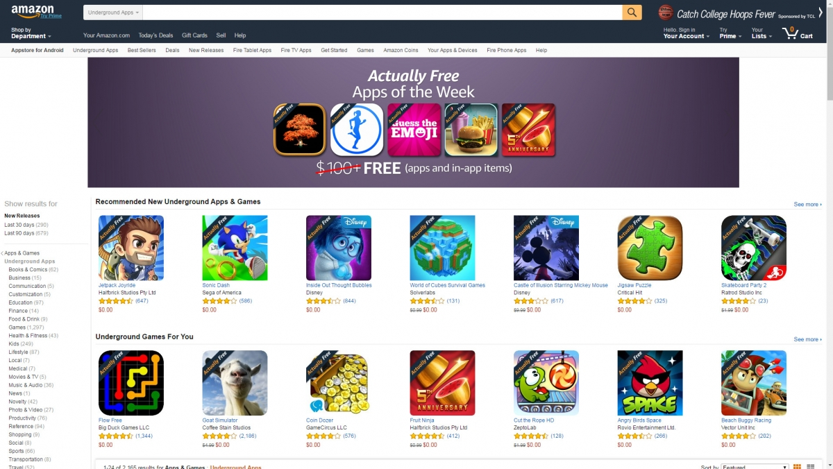 Amazon Underground free apps