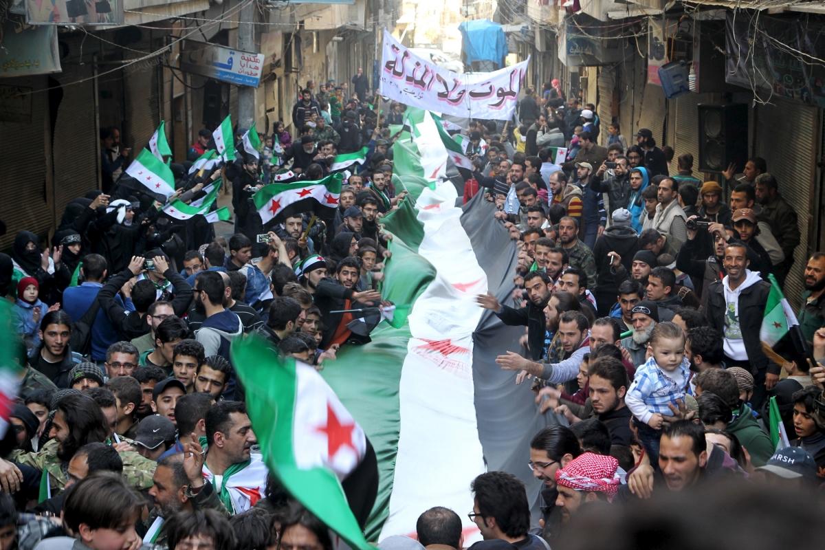 Syria protests ceasefire
