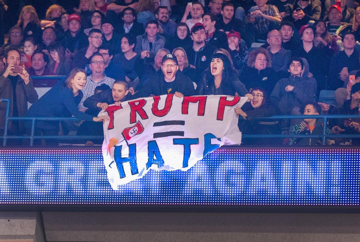 Violence at trump rally