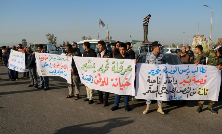 IS protests against chemical attack