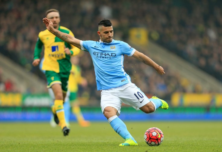 Sergio Aguero could not find the net