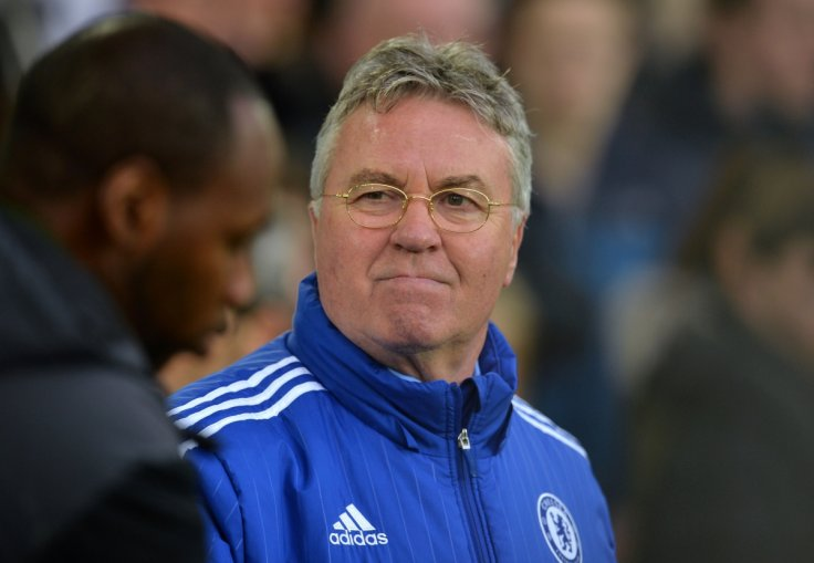Guus Hiddink at Goodison Park