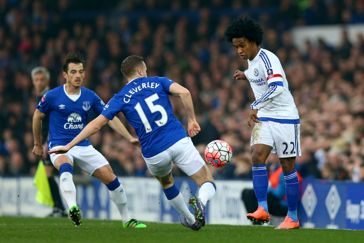Willian on the ball for Chelsea