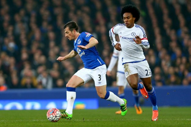 Willian tries to win the ball back